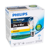 Eco Vantage 29W = 40W A-Line (A19) Clear - Case Of 24 Bulbs