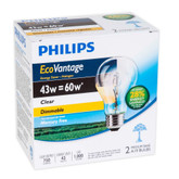 Eco Vantage 43W = 60W A-Line (A19) Clear - 2 Pack