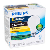 Eco Vantage 29W = 40W A-Line (A19) Soft White - 2 Pack