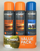 KOMBAT 3PACK MOSQUITO REPELLENT