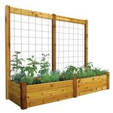 "Raised Garden Bed with Trellis Kit Safe Finish 34x95x80 - 15""D"