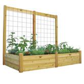 "Raised Garden Bed with Trellis Kit Safe Finish 48x95x80 - 15""D"