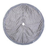 60 IN Satin Tree Skirt - Silver