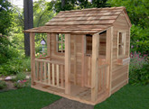 Little Squirt Cedar Playhouse  6 Feet x 6 Feet