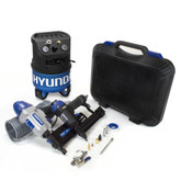 Hyundai 2 Gal. Portable Electric Air Compressor With 4-Tool Carpentry Kit