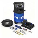 Hyundai 3 Gal. Portable Electric Air Compressor With 5-Tool Carpentry Kit