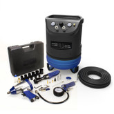 Hyundai 4 Gal. Portable Electric Air Compressor With 5-Tool Auto Kit