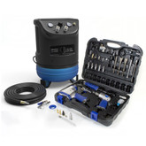 Hyundai 4 Gal. Portable Electric Air Compressor With 7-Tool Auto Kit