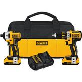 20V MAX XR 2 Tool (DCD790 & DCF886) w/ 2 Batteries (2.0Ah) and Bag