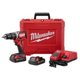 M18 1/2 Inch Compact Brushless Hammer Drill/Driver Kit