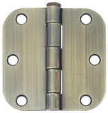 3 Inch  Antique Brass 5/8rd Door Hinge 2pk