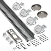 2.44m (96inches) Sliding Door Track & Hardware Kit