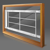 202 D Hinged Window Bar 42 x 54