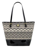 Anne Klein Spring Fever Tote - WHITE/BLACK