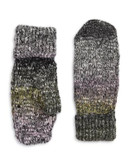 Parkhurst Multi-Coloured Harvest Knit Mittens - FOREST SPACE DYE