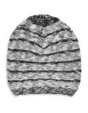 Calvin Klein Two-Tone Knit Beanie - BLACK