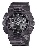 Casio Mens Camo Standard AnaDigi Watch GA100CM-8 - GREY