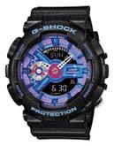Casio Womens Hyper Colour Oversized AnaDigi Watch GMAS110HC-1A - BLACK