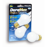 40 Watts  Fan/Garage Door A15 White Medium Base Bulb 2 PK