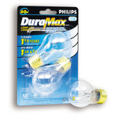 60 Watts  Fan/Garage Door A15 Clear Medium Base Bulb 2 PK