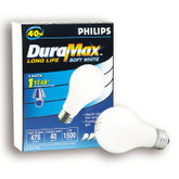 40W Incandscent Soft White A Shaped Light Bulb
