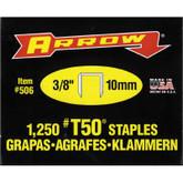 Arrow T50 3/8in Staples - Box of 1250