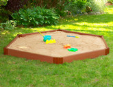 Hexagon Sandbox - 7 Feet x 8 Feet x 6 Inch