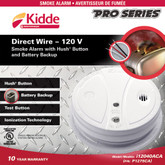 Hardwire Hush Smoke Alarm with Battery Back-up