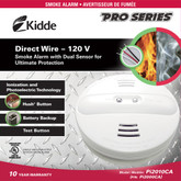 Hardwire Dual Sensor Smoke Alarm  with Battery Back-up