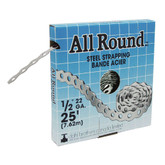All Round Strapping, Steel, 22Ga 1/2 Inch x 25'