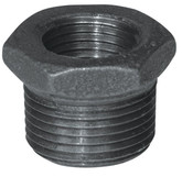 Fitting Black Iron Hex Bushing 1 Inch x 1/2 Inch