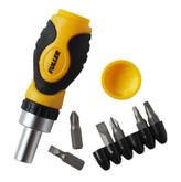 Stubby Ratcheting Screwdriver, 6-In-1