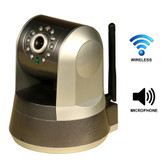 Wi-Fi Wireless Internet Motorized Pan/Tilt Camera with Smartphone, PC, or Mac Control and E-mail
