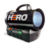 Hero - Cordless Forced Air Propane Heater 35,000 BTU/Hr.