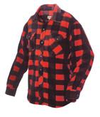Plaid Solar Fleece Shirt Red 2X Large
