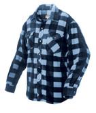Plaid Solar Fleece Shirt Blue Large