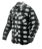 Plaid Solar Fleece Shirt Grey Large