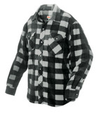 Plaid Solar Fleece Shirt Grey X Large