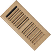 3 Inch x 10 inch Maple Louvered Floor Register