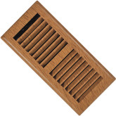 3 Inch x 10 inch Light Oak Louvered Floor Register