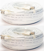 QSVRG100 - 2 Pack 100FT Shielded Video & Power Cable with BNC M&F Connectors
