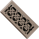 3 Inch x 10 inch Satin Nickel Victorian Floor Register
