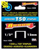 "Arrow T50 1/2"" staples - Pack of 1250 staples"