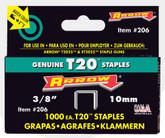 "Arrow T2025 3/8"" staples - Pack of 1000 staples"