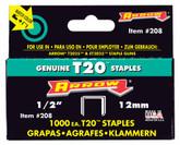 "Arrow T2025 1/2"" staples - Pack of 1000 staples"