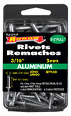 "Long aluminum 3/16"" rivet - Pack of 50"