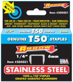 "1/4"" Stainless Steel Staple - 504SS1 T50"