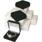 12 Black Flocked Watch & Bracelet Jewelry Gift Boxes
