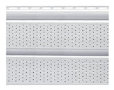 10 In. Perforated Woodgrain Double 5 Soffit  White Carton