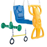 Wild Ride Accessory Bundle with Wind Rider Glider, Whirl-N-Twirl and Ring/Trapeze Combo